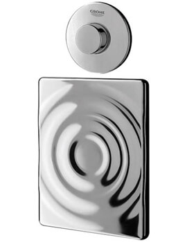 Grohe Single Flush Air Button With Horizontal Surf Wall Plate