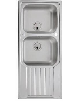 Abode Connekt 2.0 Bowl Kitchen Sink With Drainer