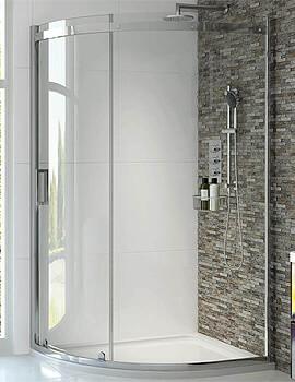 Aqata Spectra SP350 Sliding Door Quadrant Shower Enclosure 900 x 900mm