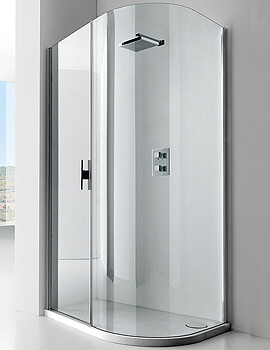 Frontline Aquaglass+ Lux 8mm Quadrant Enclosure 1200 x 600mm