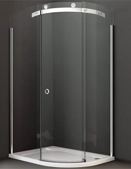 Merlyn 10 Series Offset Quadrant Enclosure 1-Door - W 1200 x D 900mm