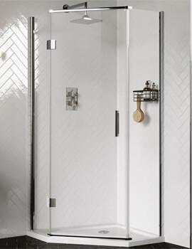 Aqata Design DS500 Hinged Door Quintet Shower Enclosure 900 x 900mm
