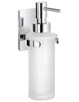 Smedbo Pool Frosted Glass Soap Dispenser - Polished Chrome