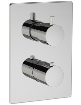 Methven Kaha Two Outlet Concealed Thermostatic Mixer Valve With ABS Plate