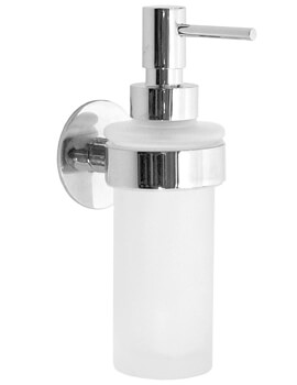 Smedbo Time 180mm Frosted Glass Soap Dispenser With Holder
