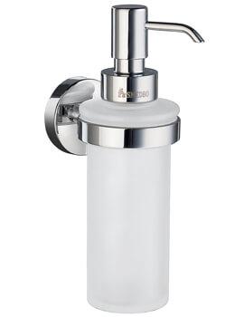 Smedbo Home Glass Chrome Soap Dispenser With Holder