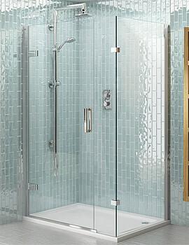 Aqata Spectra SP458 900 x 760mm Hinged Door And Inline Panel For Corner