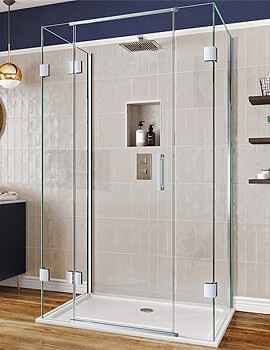 Aqata Design DS476 Hinged Door With 2 x Inline Panels Three-Sided Enclosure