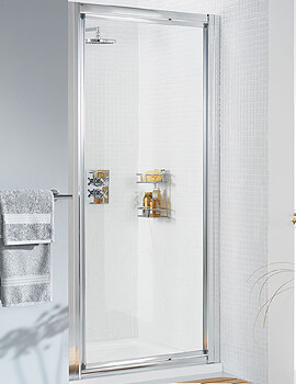 Lakes Classic Silver Framed Pivot Door - W 800 x H 1850mm