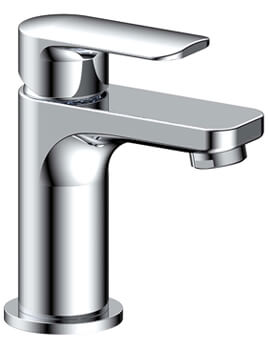 Pura Suburb Basin Mixer Tap With Clicker Waste