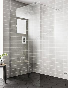 Essential Spring 900mm Wetroom Panel