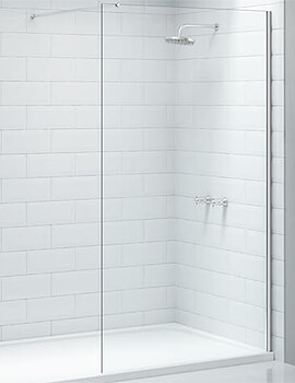Merlyn Ionic Showerwall Wetroom Glass Panel - W 1000 x H 2015mm