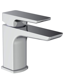 Saneux Fuji Deck Mounted 1 Hole Basin Mixer Tap With Clicker Waste