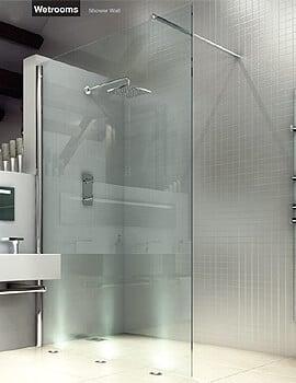 Merlyn 8 Series Wet Room Glass Panel - Width 800 x Height 2015mm