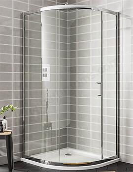 Essential Spring 1 Door Quadrant Shower Enclosure 1000 x 1900mm