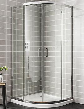 Essential Spring Offset Quadrant Enclosure Double Door - 1200 x 900mm