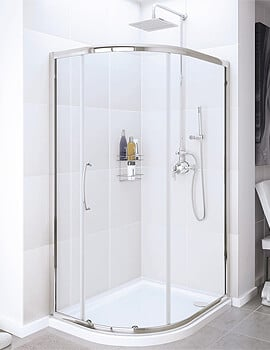 Lakes Classic Offset Quadrant Enclosure Single Door - W 900 x D 800mm