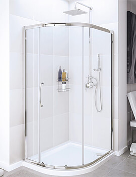 Lakes Classic Offset Quadrant Enclosure Single Door - W 1000 x D 800mm