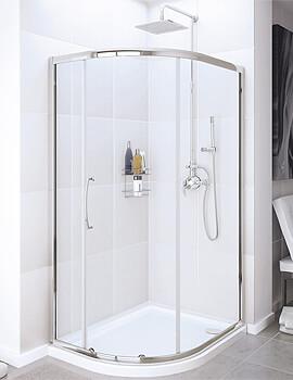 Lakes Classic Offset Quadrant Enclosure Single Door - W 900 x D 760mm