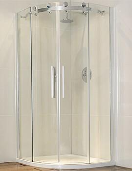 Frontline Aquaglass+ Frameless 8mm 2 Door Offset Quadrant Enclosure