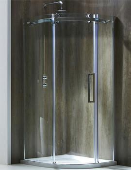 Frontline Aquaglass+ Frameless 8mm 1 Door Offset Quadrant Enclosure
