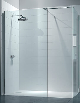 Merlyn 8 Series Walk In Enclosure With End Panel - W 1400 x D 800mm