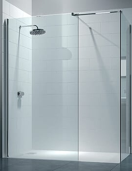 Merlyn 8 Series Walk In Enclosure With End Panel - W 1600 x D 800mm