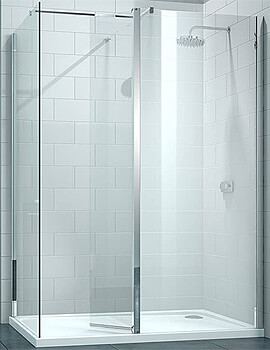 Merlyn 8 Series Walk-In Enclosure With Swivel And End Panel - W 1600 x D 800mm