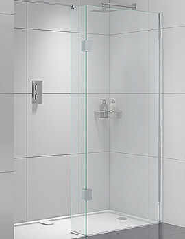 Aqata Design DS420 1400 x 900mm Left-Hand Entry Walk-In Enclosure For Recess