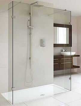 Aqata Spectra SP450 Double Entry 1200mm Shower Screen With Fixed Return Panel
