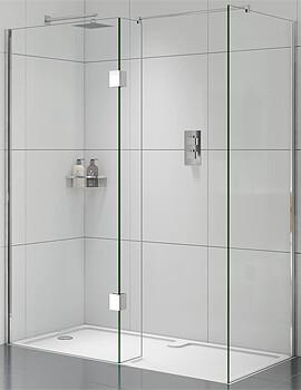 Aqata Design DS425 Right-Hand Entry Walk-In Corner Enclosure 1600 x 800mm
