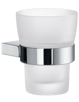 Smedbo Air Frosted Chrome Glass Tumbler With Holder