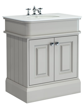 Silverdale Victorian 750mm Wide Cabinet Pale Grey And 3TH Undermount Basin