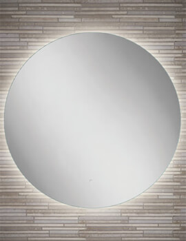 HIB Theme 60 LED Illuminated Round Mirror - W 600 x H 600mm