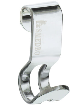 Smedbo Sideline Polished Chrome Soap Basket Hook Pair