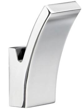 Smedbo Life 30 x 73mm Chrome Small Single Towel Hook Pair