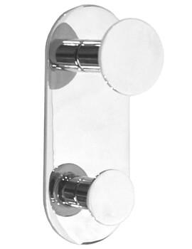 Smedbo Time Vertical Double Towel Hook - Polished Chrome