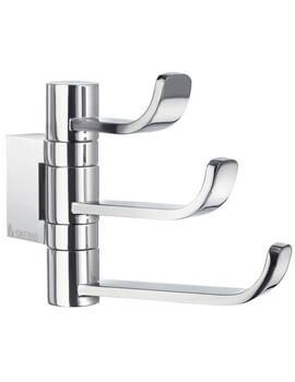 Smedbo Ice Wall Mounted Polished Chrome Swing Arm Triple Hook
