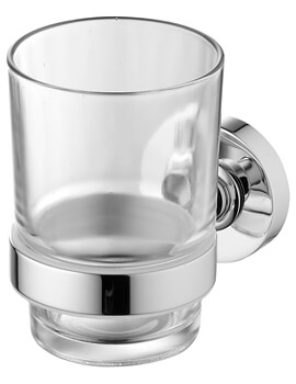 Ideal Standard IOM Wall Mounted Clear Glass Tumbler And Holder