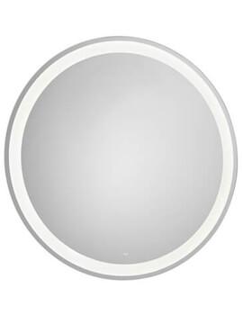 Roca Iridia Round Mirror With Perimetral LED Lighting - 800mm Diameter