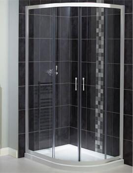 Aqualux Shine Off-Set Quadrant Shower Enclosure 1200mm x 800mm Polished Silver