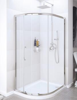 Lakes Classic Offset Quadrant Enclosure Single Door - W 1200 x D 900mm