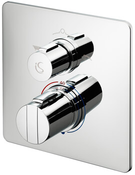Ideal Standard Concept Bath Shower Mixer Valve With Square Faceplate