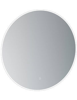 Saneux Oska Round Illuminated LED Mirror With Demister Pad - More Sizes Available