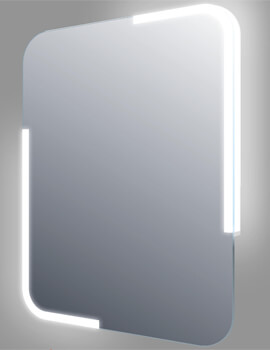 Frontline Curve 600 x 800mm LED Mirror With Sensor And Demister Pad