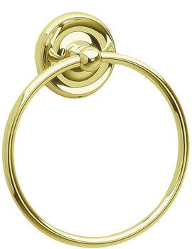 Smedbo Villa Towel Ring - Polished Brass