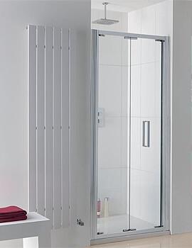 Lakes Coastline Bergen Bi-Fold Shower Door - W 800 x H 2000mm