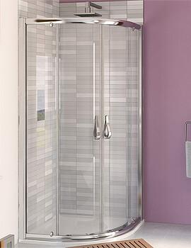 Aqualux Aqua 6 Quadrant Shower Enclosure 1900mm Polished Silver