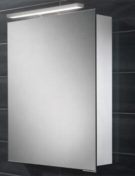 HIB Proton 500 x 700-730mm Single Door LED Overlight Mirror Cabinet