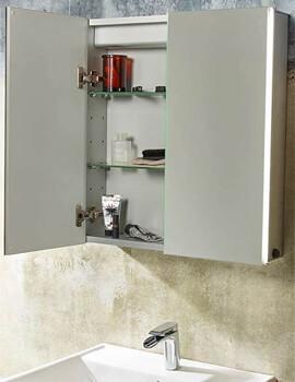 Tavistock Sleek Double Door Mirror Cabinet With LED Lighting - W 650 x H 650mm